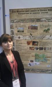 Julie Morin-Levat with her winning poster